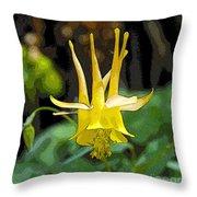 Golden Columbine Throw Pillow
