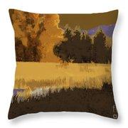 Golden Cottonwood Throw Pillow