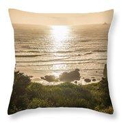 Golden Cove Throw Pillow