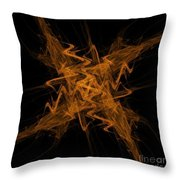 Golden Crosshatch Scribble  Throw Pillow