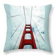 Golden Crossing - Golden Gate Bridge San Francisco Throw Pillow