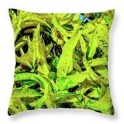 Golden Croton Throw Pillow