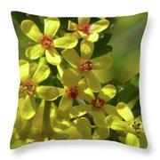 Golden Currant Blossoms Throw Pillow