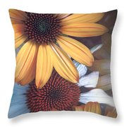 Golden Daisies Throw Pillow