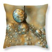 Golden Dandy Shower Throw Pillow