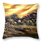 Golden Daze.sold Throw Pillow by Cynthia Adams