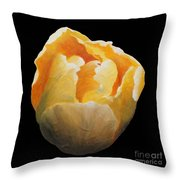 Golden Double Tulip Throw Pillow