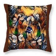 Golden Dragons Throw Pillow