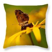 Golden Dreams Of A Summer Garden Throw Pillow