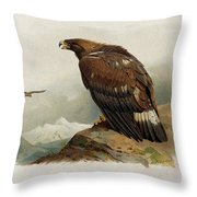 Golden Eagle By Thorburn Throw Pillow