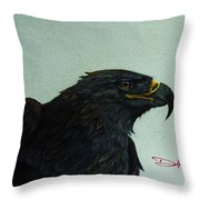 Golden Eagle- Head Study Throw Pillow