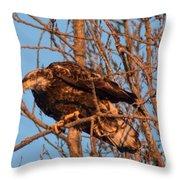 Golden Eagle Liftoff Throw Pillow