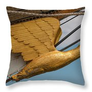 Golden Eagle Masthead Throw Pillow
