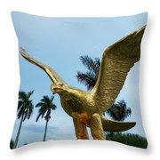 Golden Eagle Take Off Throw Pillow