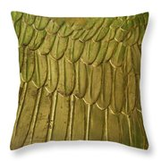 Golden Eagle Wing Throw Pillow