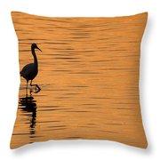 Golden Egret Throw Pillow