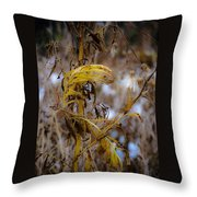 Golden End Throw Pillow