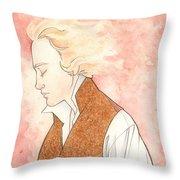 Golden Enjolras Throw Pillow