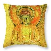 Golden Enlightenment Throw Pillow
