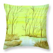 Golden Fall Day  Throw Pillow