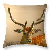 Golden Fallow Throw Pillow