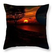 Golden Fantasy Throw Pillow