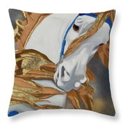 Golden Fantasy Throw Pillow