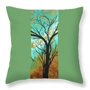 Golden Fascination 4 Throw Pillow