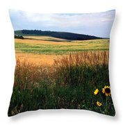 Golden Fields Forever Throw Pillow by Kathy Yates