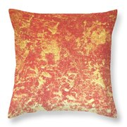 Golden Flames Throw Pillow