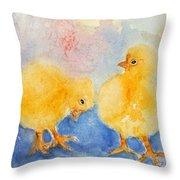Golden Fluff Throw Pillow