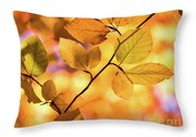 Golden Foliage Throw Pillow