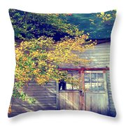 Golden Fall Foliage  Throw Pillow