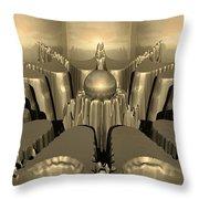 Golden Fractal #1 Throw Pillow