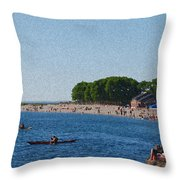 Golden Gardens In Seattle Washington Throw Pillow