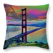 Golden Gate 1 Throw Pillow