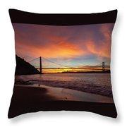 Golden Gate Bridge At Dawn Throw Pillow