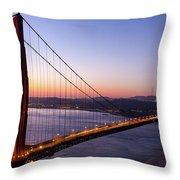 Golden Gate Bridge During Sunrise Throw Pillow