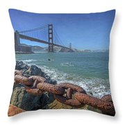 Golden Gate Bridge Throw Pillow by Everet Regal