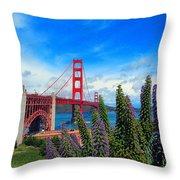 Golden Gate Bridge Five Throw Pillow
