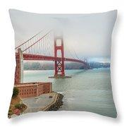 Golden Gate Bridge Fort Point Throw Pillow