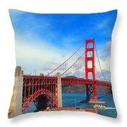 Golden Gate Bridge Four Throw Pillow