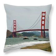 Golden Gate Bridge From Baker Beach Throw Pillow