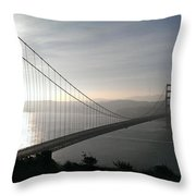 Golden Gate Bridge From Marin County Throw Pillow