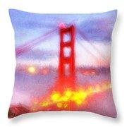 Golden Gate Bridge IIi Throw Pillow