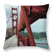 Golden Gate Bridge Low Point Of Cable Throw Pillow