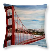 Golden Gate Bridge Throw Pillow