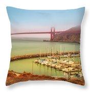 Golden Gate Bridge Sausalito Throw Pillow