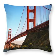 Golden Gate Bridge Sausalito Throw Pillow