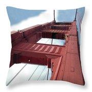 Golden Gate Bridge Tower Throw Pillow